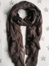 Langwerpige Sterren sjaal, Taupe-Navy