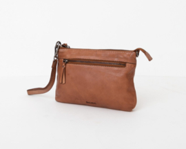 "Bag 2 Bag clutch / tasje, ""Levisa.""  écht leer. Limited Edition. Brown"