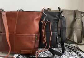 """Bag 2 Bag grote tas, """" Madura """", écht leer."""