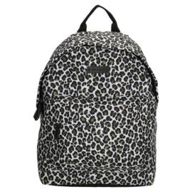 Rugtas luipaard / panter print. Wit - olijfgroen - zwart.