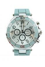 Horloge Ernest, Oud Blauw-Silver.
