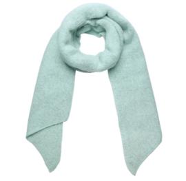 Langwerpige  super soft sjaal met schuine uiteinden. Zacht mint groen