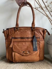 Bag 2 Bag medium - grote tas, model Toscane, 2 kleuren , écht leer.  Limited Edition.