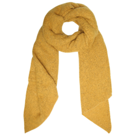 Langwerpige  super soft sjaal. Uni okergeel.