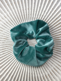 Scrunchie fluweel. Turquoise