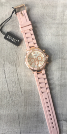 Horloge Ernest, Licht Roze-Rosé.