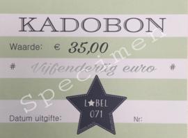 Kadobon 35,00