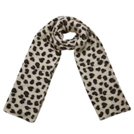 Langwerpige super soft sjaal .  Luipaard (panter) / hartjes .