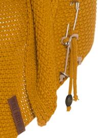 Sjaal/omslagdoek van het mooie merk Knit Factory.  Okergeel