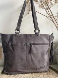 Bag 2 Bag grote tas/shopper model Almeria  , écht leer. 4 kleuren.