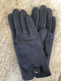 Handschoenen, stretch suedine.  Grijs