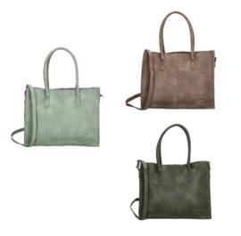 Kartel bag - tas van ZEBRA. Gevoerd + mini laptop vak. 3 kleuren