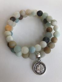 Armbanden (half) edelstenen + parels