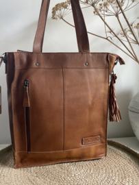 Bag 2 Bag grote (laptop)tas model Coria , écht leer. 4 kleuren.