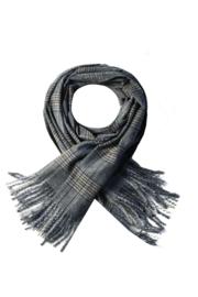 Langwerpige super soft sjaal. Klassiek ruit patroon. Bruintinten
