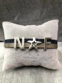LC beats NF. Armband dames. Silverplated sluiting.