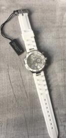 Horloge Ernest, White-Silver.