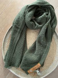 Sjaal  Luna, van het mooie merk Knit Factory. Khaki (army green)