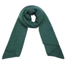 Langwerpige  super soft sjaal met schuine uiteinden. Groen