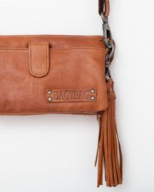 """Bag 2 Bag clutch / tasje,  """"Dover"""". écht leer. NIEUW  Cognac bruin"""