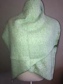 Langwerpige  super soft sjaal. Mint groen.