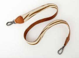 Schouderband Bag2Bag, leer/vacht. Zebra. Bruin