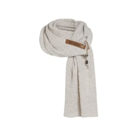 Sjaal Luna, van het mooie merk Knit Factory. Wolwit (beige)