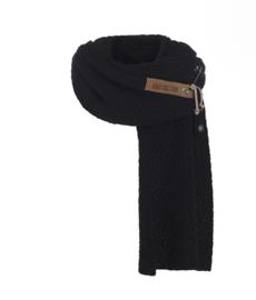 Sjaal  Luna, van het mooie merk Knit Factory. Zwart