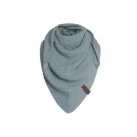 Sjaal/omslagdoek KIDS MAAT van het mooie merk Knit Factory.  Oud Blauw