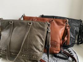 """Bag 2 Bag grote tas """" Marla """", écht leer."""