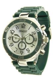 Horloge Ernest, Donker Groen-Silver.