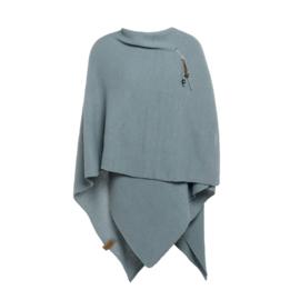 Super grote omslagdoek Jazz van het mooie merk Knit Factory.  Stone green / Oud Blauw.