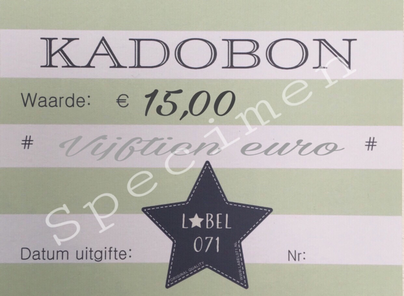 Kadobon 15,00