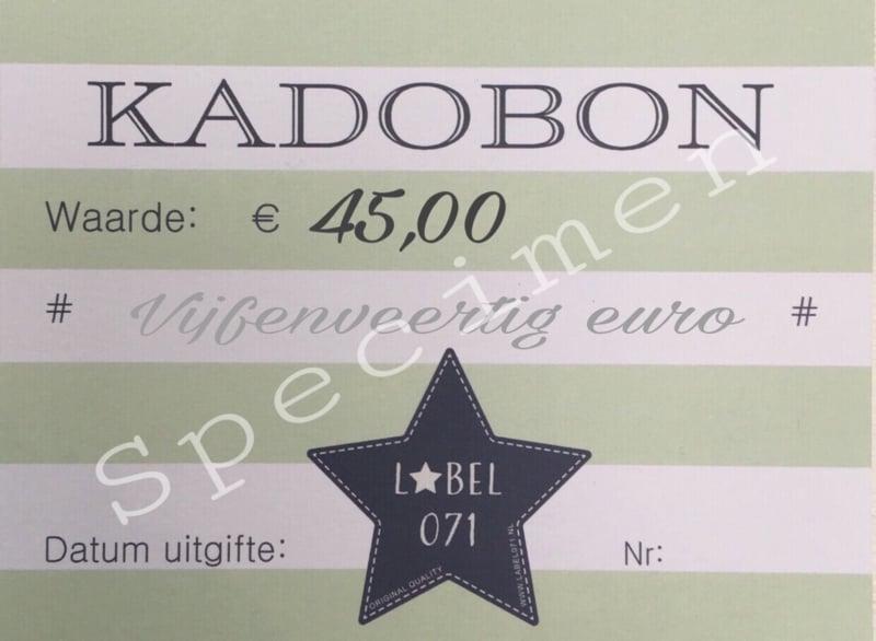 Kadobon 45,00