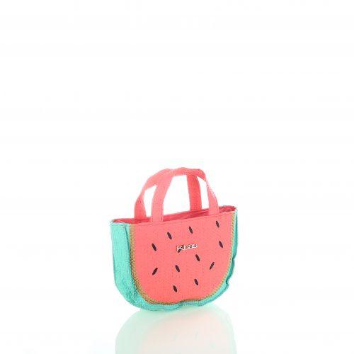 Kbas mini tas / meisjes tas. Paperbag, watermeloen.