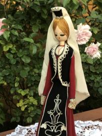 Bulgarije | Poppen | Houten vintage klederdrachtpop - handwerk'Denitsa'