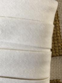 Band | Wit | Biaisband | Wit (sneeuw-) - 12 mm - 5 meter Sorbo op kaartje
