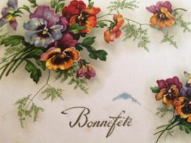 1960 | Vintage briefkaart Bonne fete
