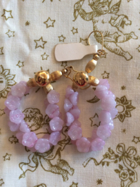 "Vintage | Lila Retro oorbellen ""Flower Earrings"" 