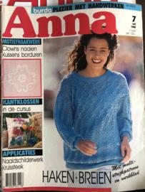 Tijdschriften | Handwerken | Anna - Burda: plezier met handwerken  | 1988 nr. 07 juli - HAKEN en BREIEN