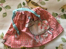 Zakje babyspullen 'Dancing sheep' (30 x 20 cm)
