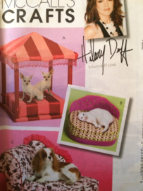 "McCall's Crafts poezenmandje | hondenmandje ""Hilary Duff"" 