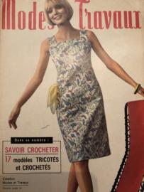 1966 | Modes et travaux  Juilllet 1966 - 48e Année N° 787 - met borduur-, brei- en haakpatronen | 17 modéles TRICOTÉS et CROCHETÉS