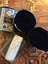 Tapijtwol | Parley - 407- Zwart | Pakje  zuiver zeldzaam scheerwol Teppichwolle - Carpetwool -  IRAN - Made in Holland ca. 1960