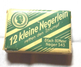 """Pappschachtel """"12 kleine Negerlein"""" Neger-Garn Bela-Garn"""