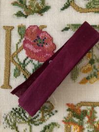 Band  | Biaisband | Bordeaux rood  | 2 cm | 100% katoen | merkloos - kleurecht : patents pending