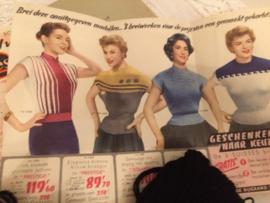 1954 | De Breiblaadjes- Vintage breireclame | Breibladen 1954 - zonder patronen