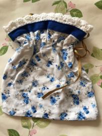 """Sieraden of lingerie zakje """"Blue Roses"""" (20 x 19 cm)"""