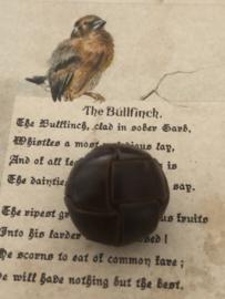 KNOPEN | Bruin | 20 mm -  Originele Football of knot button -  lederen/leren knoop met metalen oogje, 100%  leer. (leerknoop)