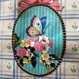 "Boekenhoes met madeliefjes ""Butterfly""  (22 x 14 cm)"